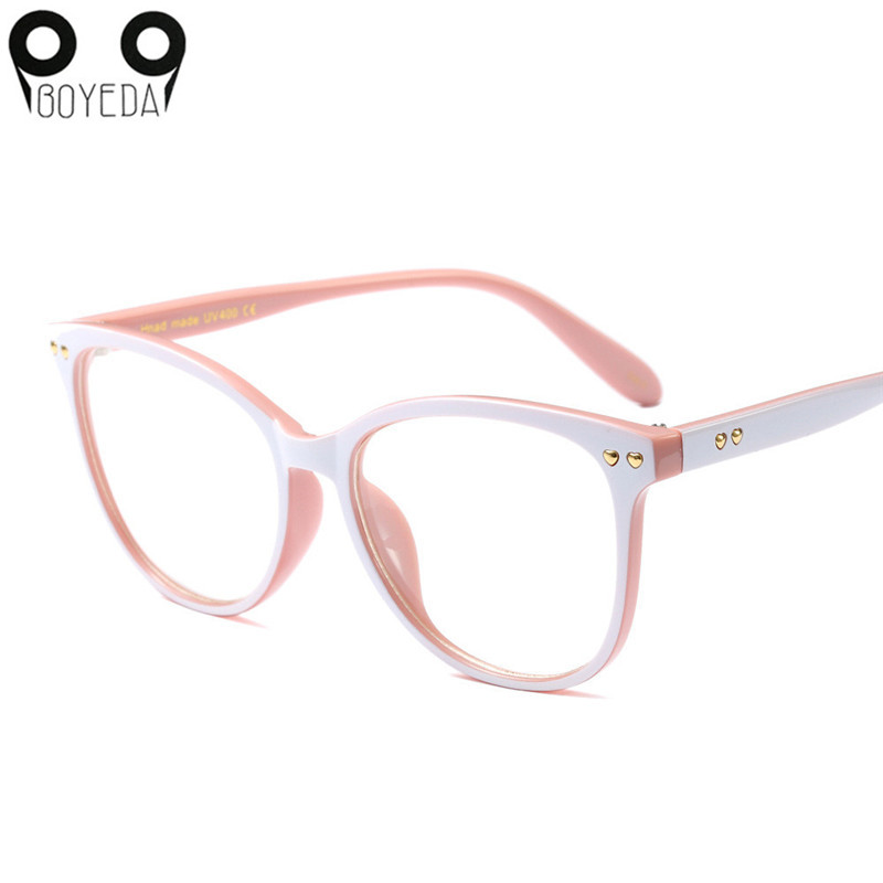 BOYEDA New Women Cat Eye Glasses Fashion Spectacle Frame Brand Female Vintage Computer Eyeglasses Retro Optical Eyewear 3