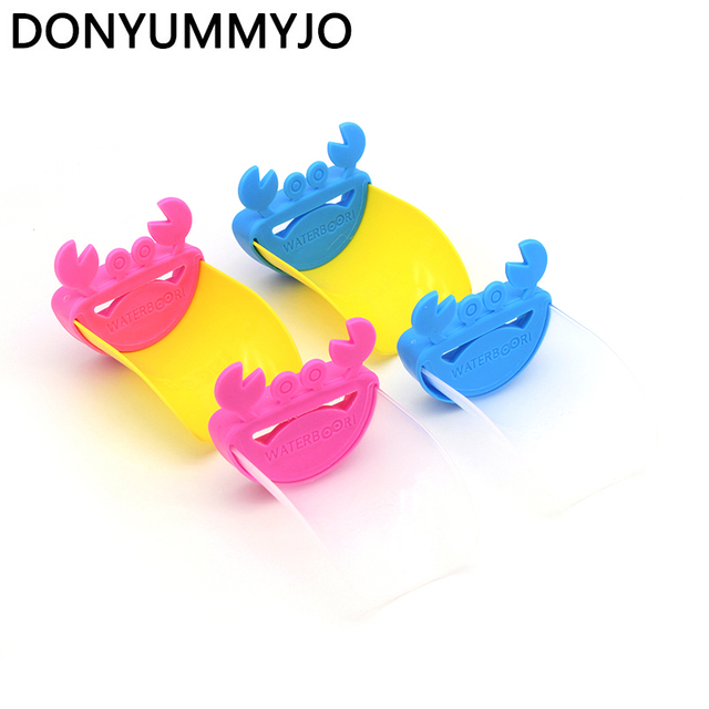 DONYUMMYJO 1pcs Durable Kid Toddler Baby Faucet Extender Washing Hands  Bathroom Sink Lovely Crab Kitchen Faucet