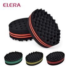 ELERA овальная двухсторонняя Волшебная твист щетка для волос Губка, губка щетка для натуральных волос, афро-волнистая щетка для волос