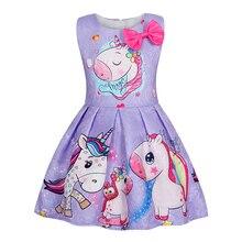 AmzBarley Unicorn Dresses for Girls sleeveless Tutu Princess Birthday Party Costume kid Summer Clothing Children Clothes