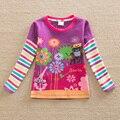 NEAT 2014 nuevo envío libre de otoño baby & kids animal print camisetas tutú impresa de algodón de manga larga sólido ropa de las muchachas L328 #