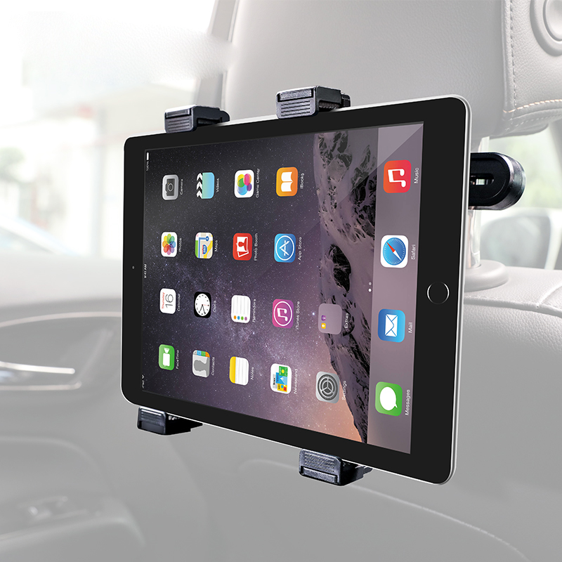 Universal Car Back Seat Tablet Phone Holder Stand For iPad 7-10 inch Tablet Travel Bracket With Roating Base Stands
