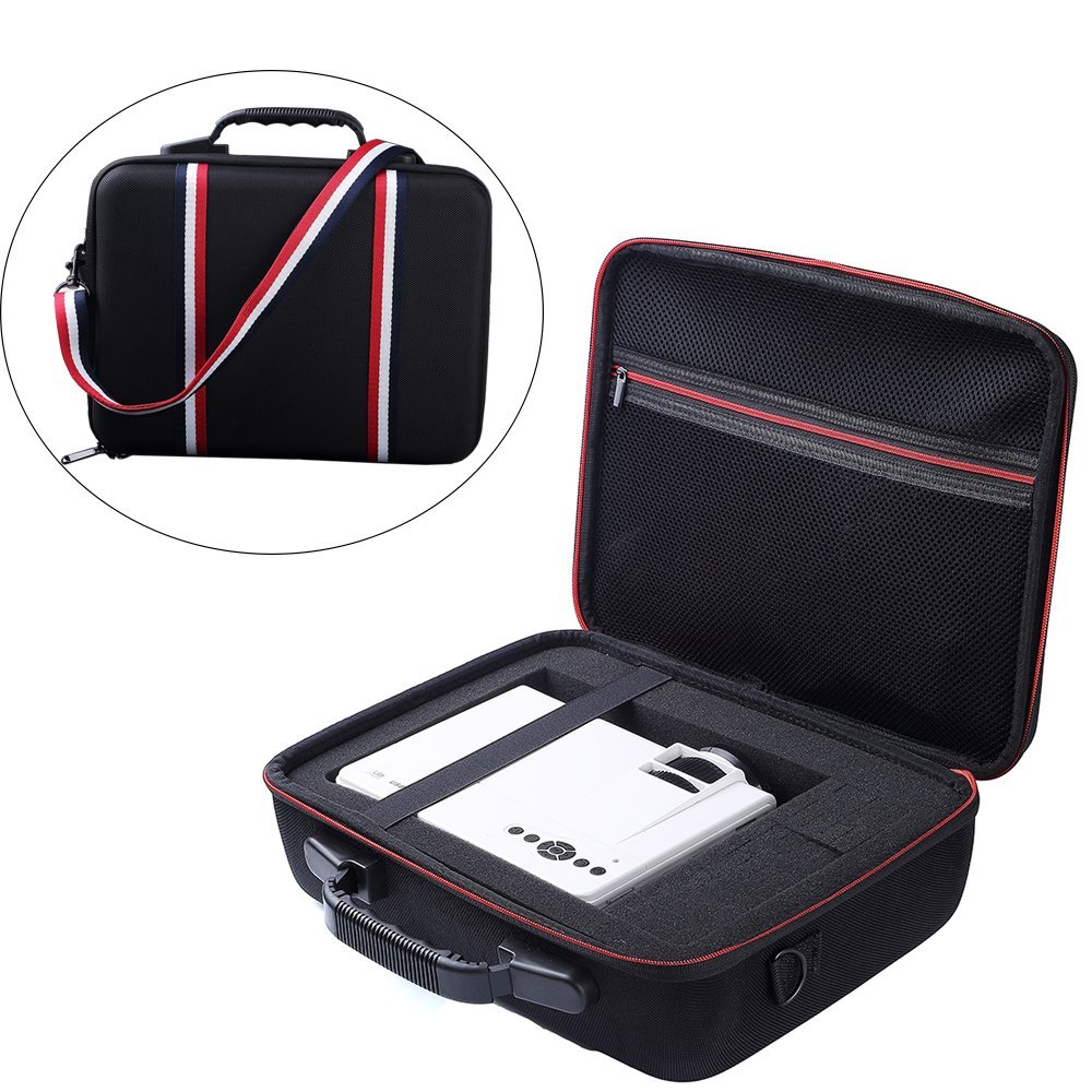 2019 Newest EVA Hard Case Travel Carrying Storage Cover Bag Case For DBPOWER T21 Upgraded LED Projector and Accessories