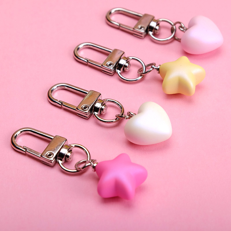 2019 Cute Resin Heart Keychain Bag Charm Woman Key Ring Key Holder Gift Acrylic Love Key Chain Keychains Funny Gifts