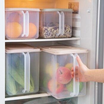 Caja de preservación plástica recubierta para refrigerador de frutas, caja de almacenamiento de vegetales con sello rectangular para el hogar