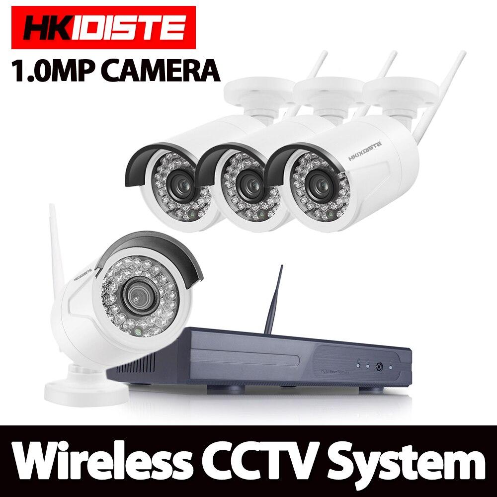 Système de vidéosurveillance sans fil NVR 720 P caméra IP WIFI étanche IR vision nocturne caméra de sécurité à domicile Kit de Surveillance sans disque dur