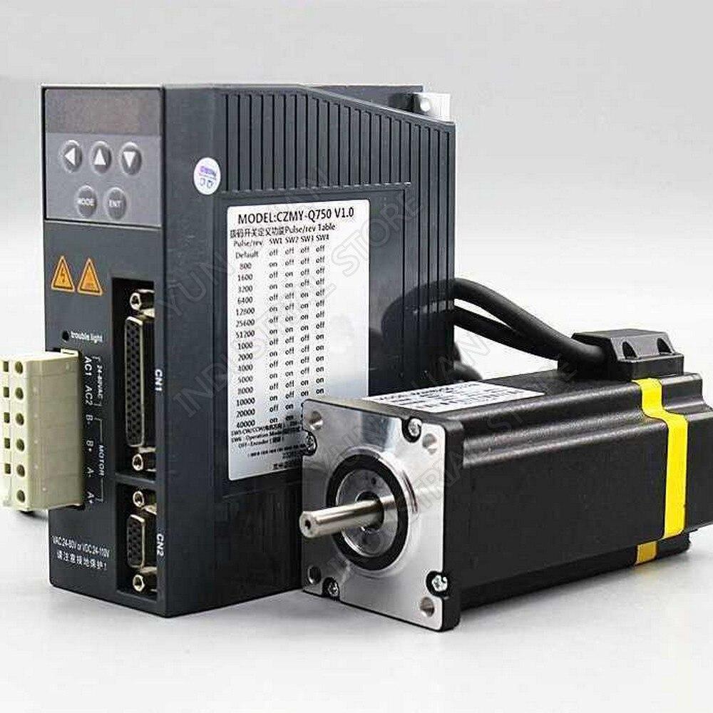 60 MM 4Nm affichage numérique Nema24 2000 tr/min en boucle fermée moteur pas à pas pilote Hybird encodeur facile Servo 2Ph AC moteur pas à pas Kits