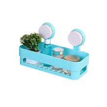 Plastic Strong Sucker Cosmetic Storage Racks The Wall Hook Makeup Storage Box Toothpaste Toothbrush Storage Shelves