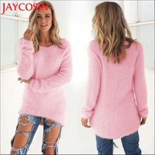 JAYCOSIN 2017 Womens SweaterS SIF New Fashion High Quality Casual Solid Long Sleeve Jumper Sweaters Blouse Drop Shipping 921