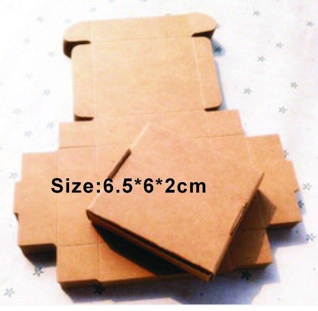 8d076941a760 Wholesale 1000PCS LOT Size2  6.5 6cm Kraft Paper Box Free Print 1 Color  LOGO Paper Gift Box