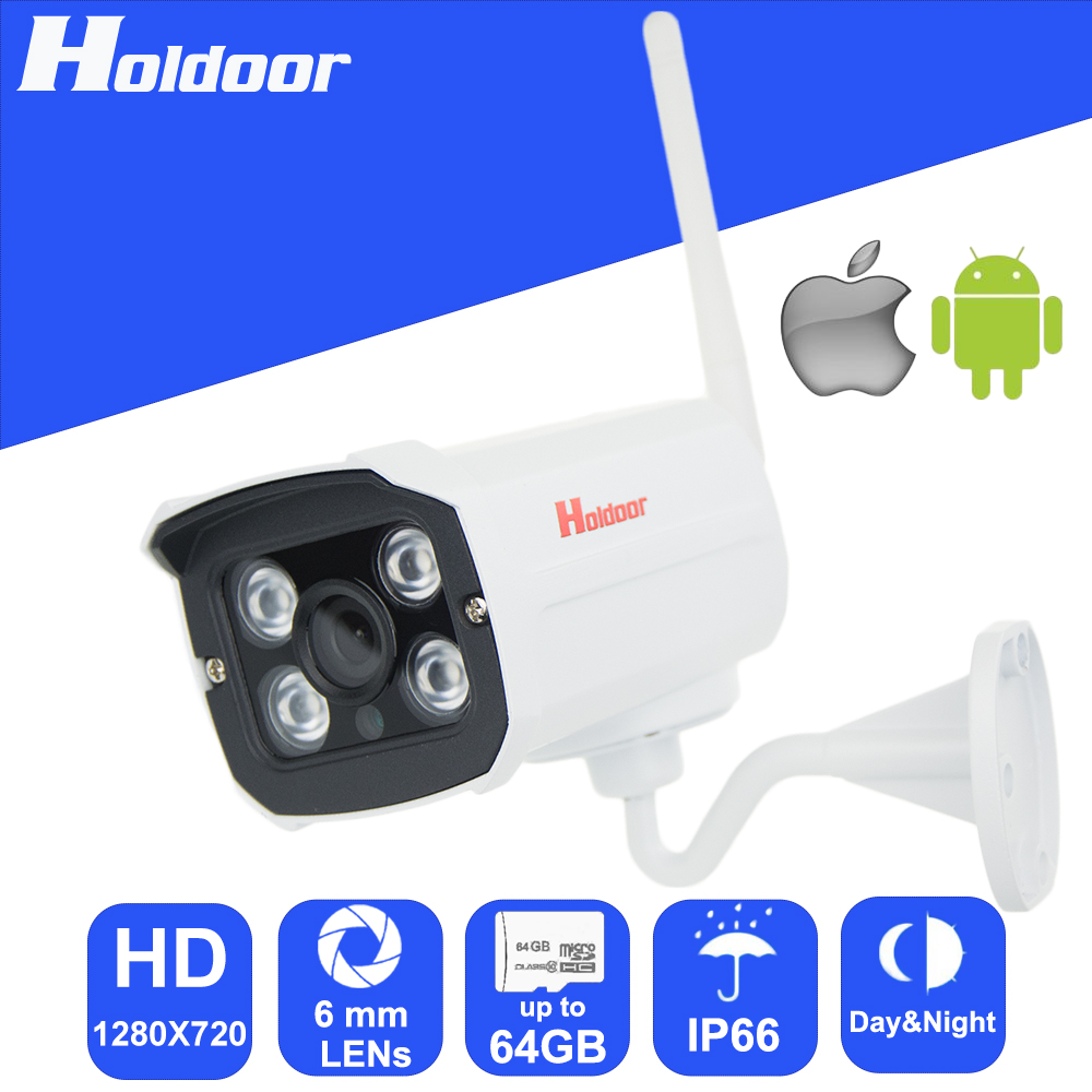 WiFi P2P IP 720P HD Video Security Surveillance Night Vision 6mm Lens Camera with micro SD card slot email alert video system