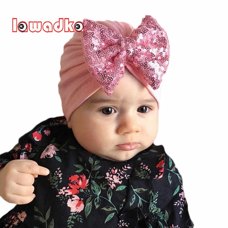 f63f50c018b Lawadka Big Bow Baby Hat Cotton Baby Caps Unisex Girls Boys Hats Newborn  Photography Props Candy