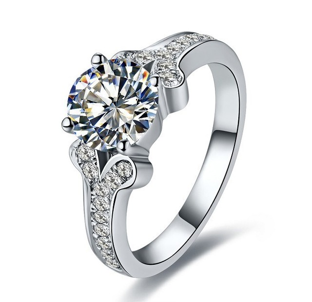 Aliexpresscom Buy Top Brand Style Moissanite White Gold