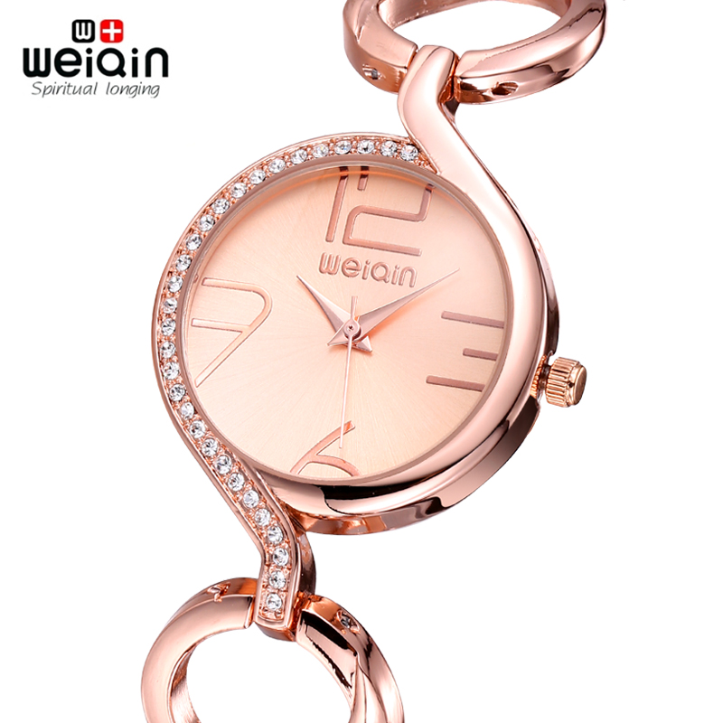 5c67f57b6f1 WEIQIN Brand Luxury Crystal Gold Watches Women Fashion Bracelet Watch  Quartz Shock Waterproof Relogio Feminino orologio donna-in Women s Watches  from ...