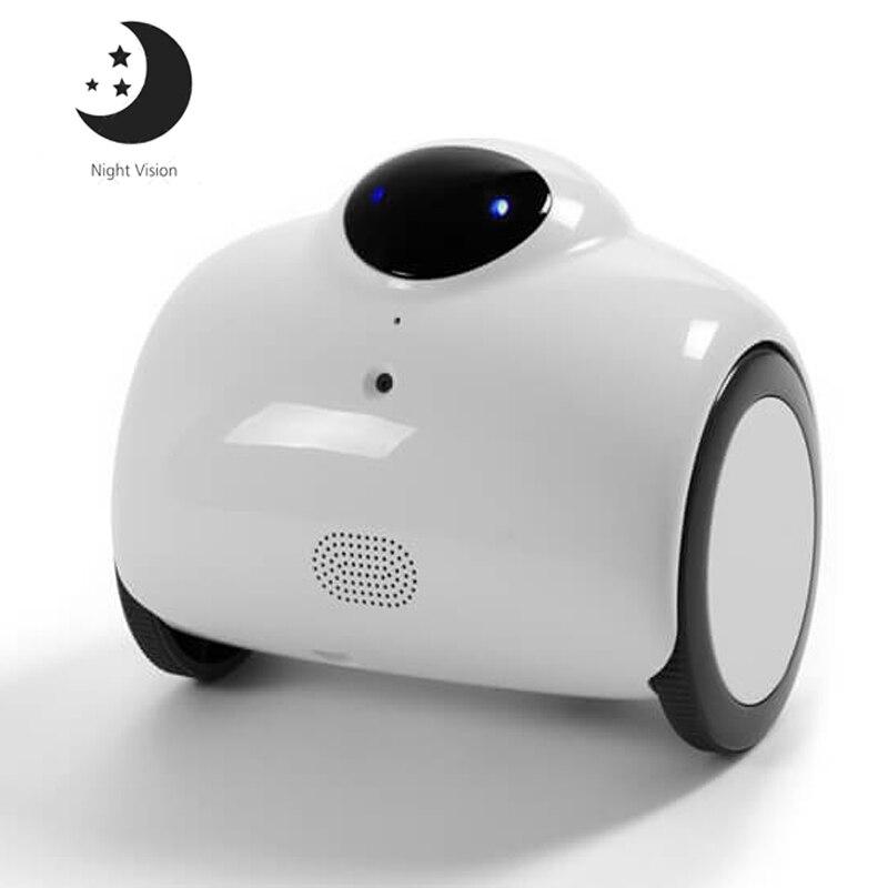 Smart 720 p HD WIFI Famille Robot Bébé Moniteur avec IR Nuit Vision 2-Voix Interphone Bidirectionnel et Modifié ton Automatique Mode De Charge