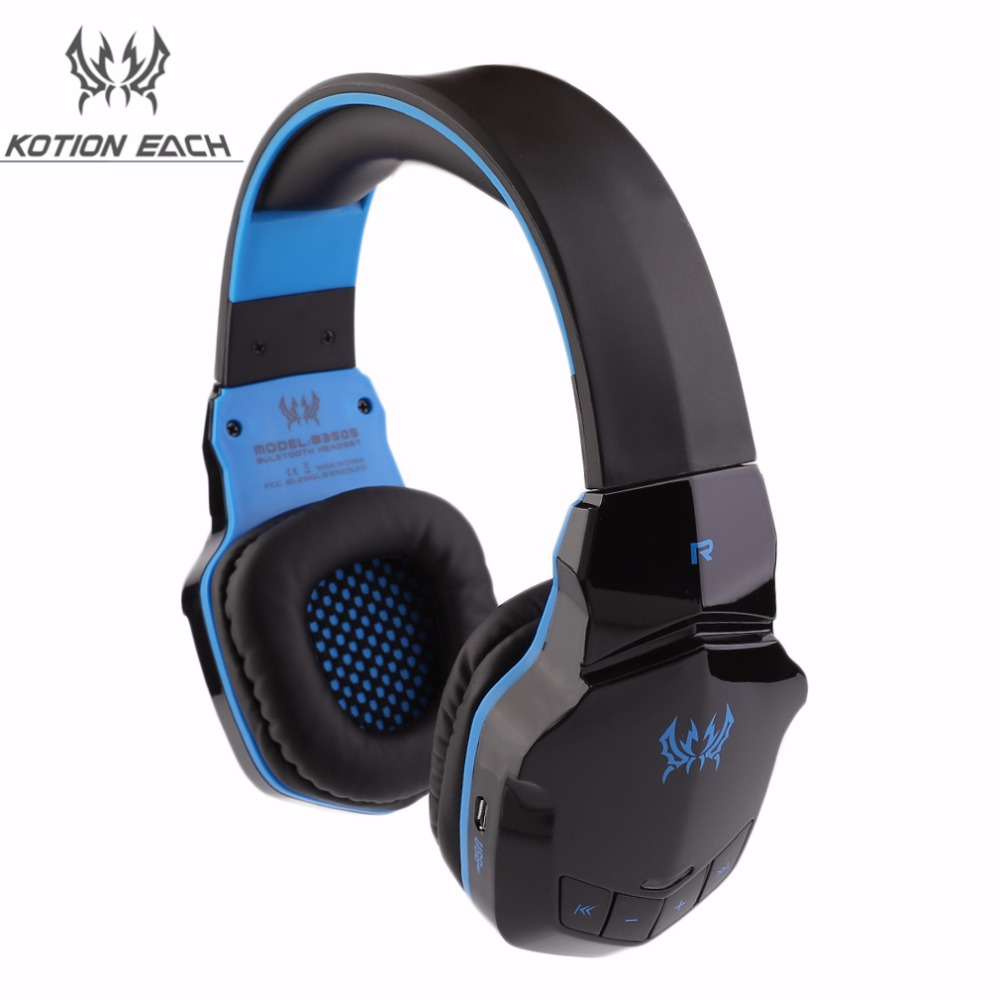 ФОТО KOTION EACH 2 in 1 B3505 Wireless Gaming Gamer Headset Bluetooth Stereo Headphones Surround Sound with Microphone in Retail Box