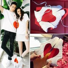 2019 White Shoes Women Heart-Shaped Flats Hot Sale