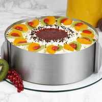Retractable Circle Mousse Ring Mould Baking Tool Set Stainless Steel Cake Mold Size Adjustable Bakeware E2S