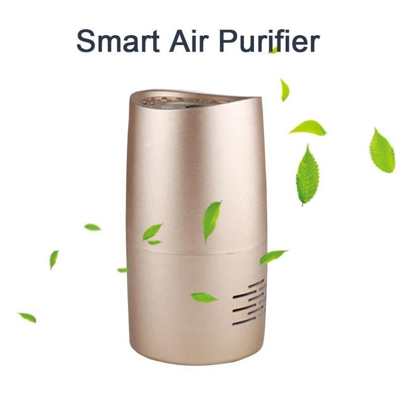 USB Car Air Cleaning Vehicle Air Purifier Mini Auto Car Air Freshener Anion Ionic Purifier Oxygen Bar Ionizer Purifying Device car anion air purifier intelligent air purifier oxygen bar car air freshener cigarette smoke absorber with adapter