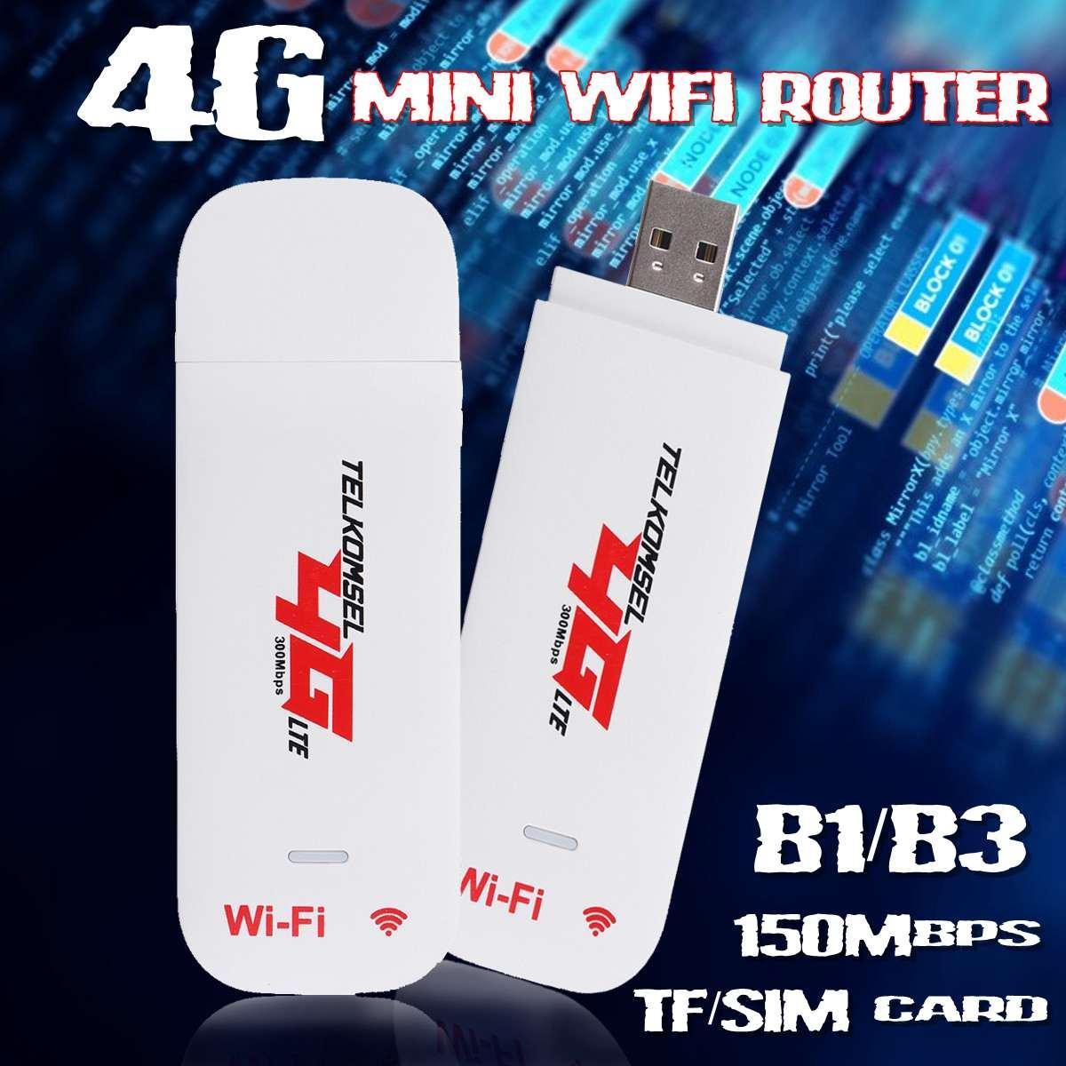 4g 3g Lte Usb 2.0 Wireless Hotspot Mobile Dongle Router Mit Sim Tf Karte Slot Für Handy Tablet