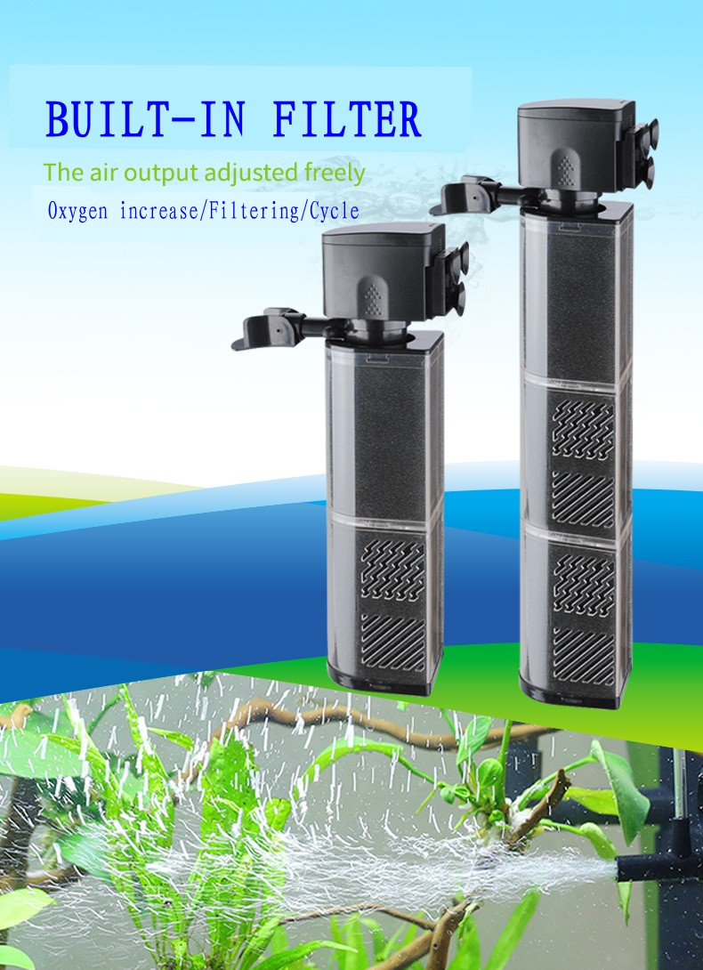 SOBO fish tank 3 in 1 built in submersible pump Aquarium muter oxygenation filtration and circulation