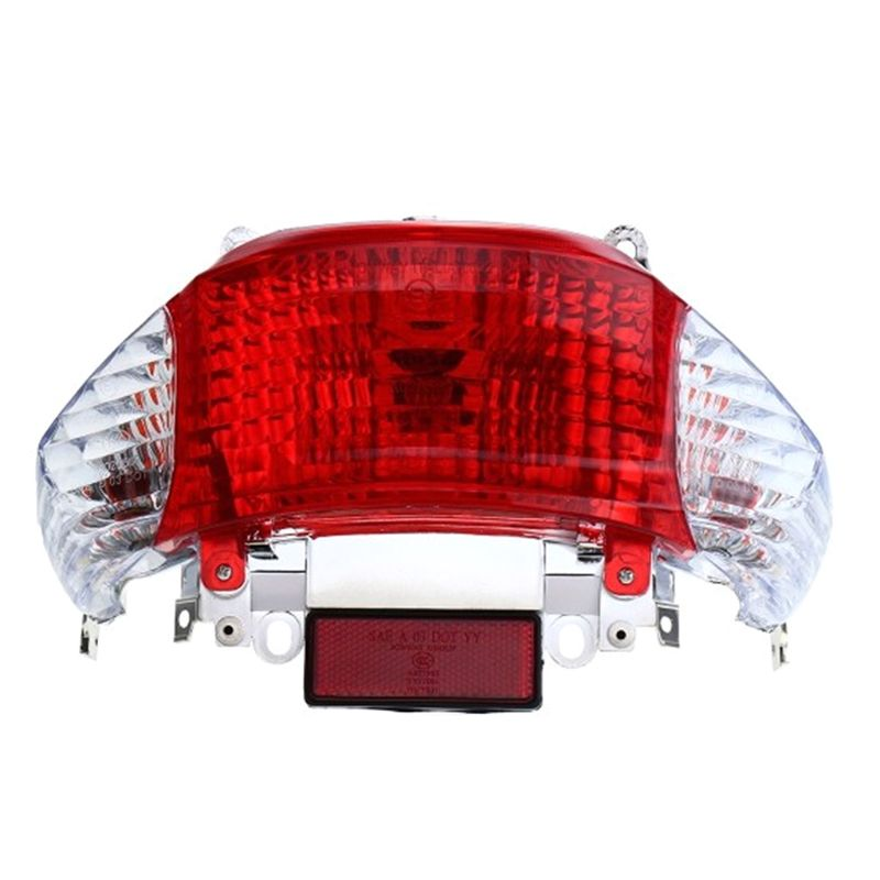 Motorcycle Signal Light Triclicks Red Rear Tail Lights Turn Assembly Running Scooters Moped
