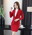 Female Skirt Suits for Women Business Suits Formal Office Suits Work Uniforms for Beauty Salon Ladies Red Blazer and Jacket Sets