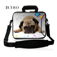 "Cão adorável 10 ""Hot Ombro Laptop Bag Carry Case Para 9"" 10.1 ""10.2"" Laptop Netbook Tablet(China)"