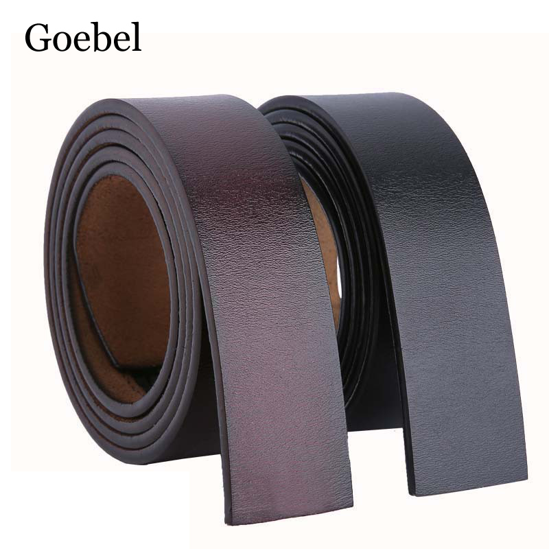 2019 Brand No Buckle 3.5cm Wide PU Leather Man Belt Body Strap Without Buckle Belts Men Good Quality Belts For Male
