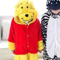 Leuke zebra onesies kostuum Halloween pyjama Kids bear cosplay pyjama Kids cartoon animal pyjama jongens meisjes Anime nachtkleding