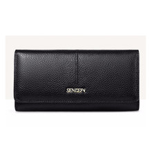 SENDEFN Women Fashion Genuine Leather Wallet Long Lady Purse Clutch Card Holder Phone Pocket Female Wallets(China)