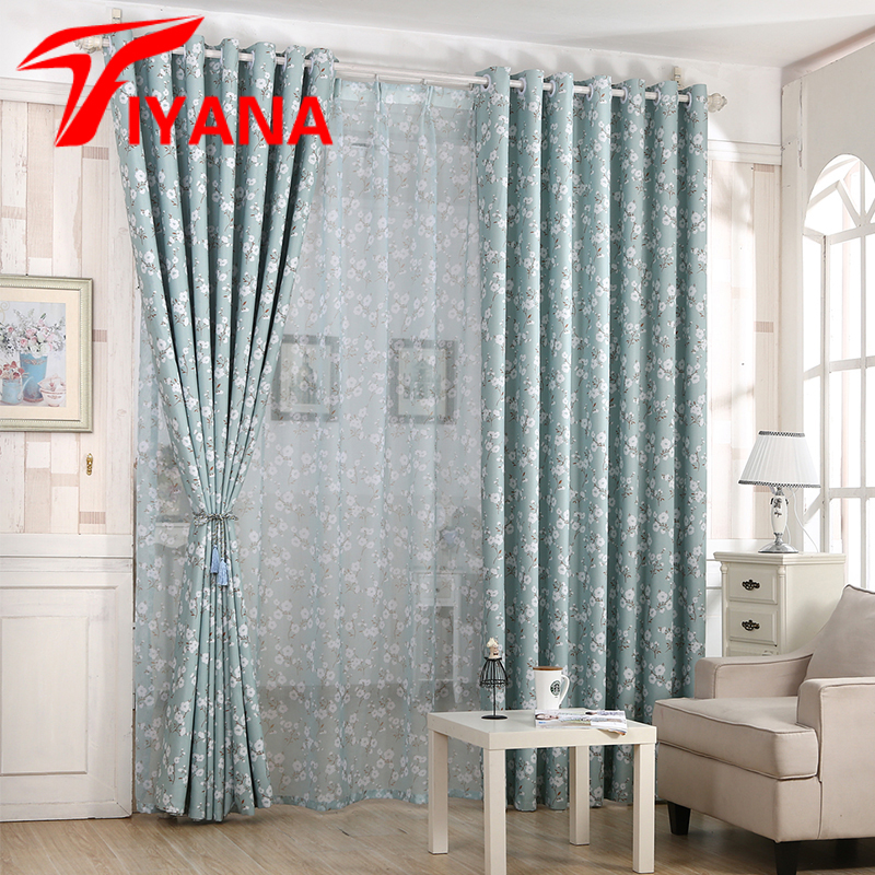 Hot Sale Fashion Style Kapok Flower Curtains Blackout