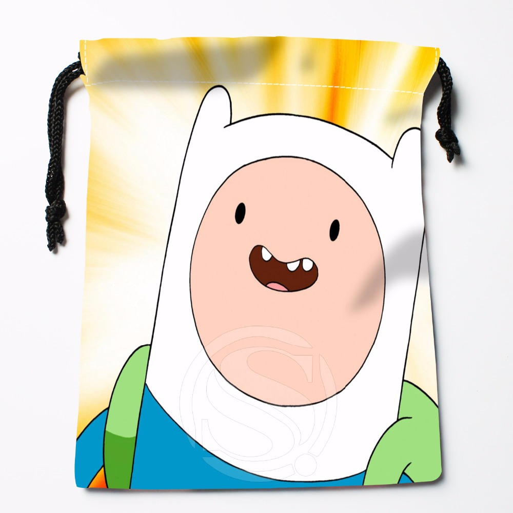 Fl-Q149 New adventure time &10 Custom Printed receive bag Bag Compression Type drawstring bags size 18X22cm 711-#Fl149