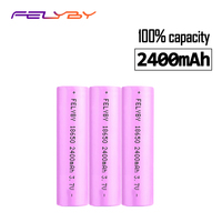 FELYBY HOT Original Brand 3pcs 18650 li ion rechargeable battery 3.7V 100% 2400mAh 18650 battery 18650 Rechargeable Battery
