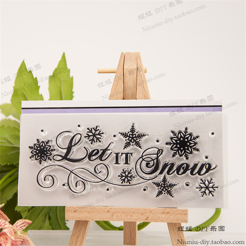 let it snow DIY Transparent Clear Rubber Stamp Seal Paper Craft Photo Album Diary Scrapbooking paper Card RM-114 let it snow three holiday romances