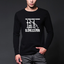 Science Real Believe chemistry experiment Big Bang Theory long sleeve autumn and winter o-neck men's T-shirt tops