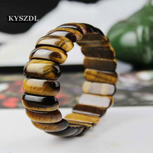 KYSZDL yellow Tiger Eye stone Love Buddha Bracelets & Bangles Trendy Natural Stone Bracelet For Women Famous Brand Men Jewelry