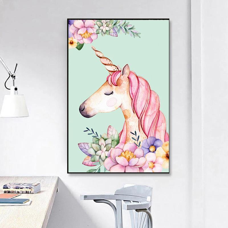 DIY Diamond Painting Embroidery Unicorn Rhinestone Christmas-Gift Home-Decor Cartoon