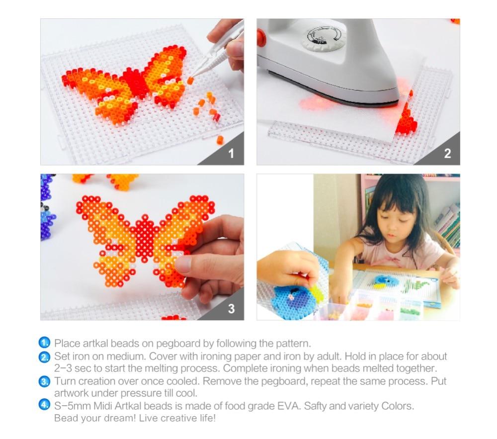 Бисер artkal 36 цветов 11160 perler бисер набор в ящике для хранения S-5mm игрушки для детей CS36