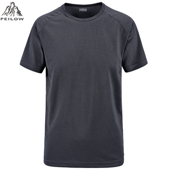 PEILOW plus size M~6XL 7XL Summer Style New T Shirt Men outwear black military Quick Dry Slim Fit T-shirt Men's brand Clothing