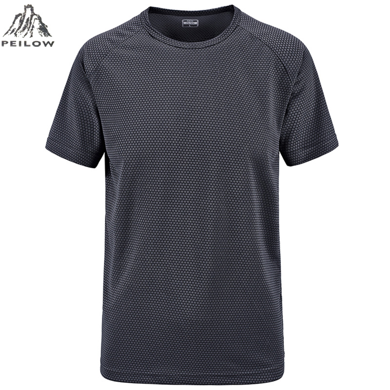 PEILOW plus size M~6XL 7XL Summer Style New   T     Shirt   Men outwear black military Quick Dry Slim Fit   T  -  shirt   Men's brand Clothing