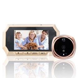 4.3 LCD Smart Peephole Spioncino PIR Auto Foto/Audio Video Record HD IR Night Vision Camera Campanello PIR di Movimento sensore