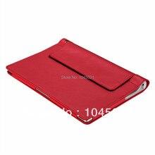 2016 Nueva Llegada Luxry Folio Cuero de LA PU Caja de la Tableta Cubierta Para Lenovo B8000 YOGA 10 pulgadas Protectora de La Piel con Envío gratis!!!