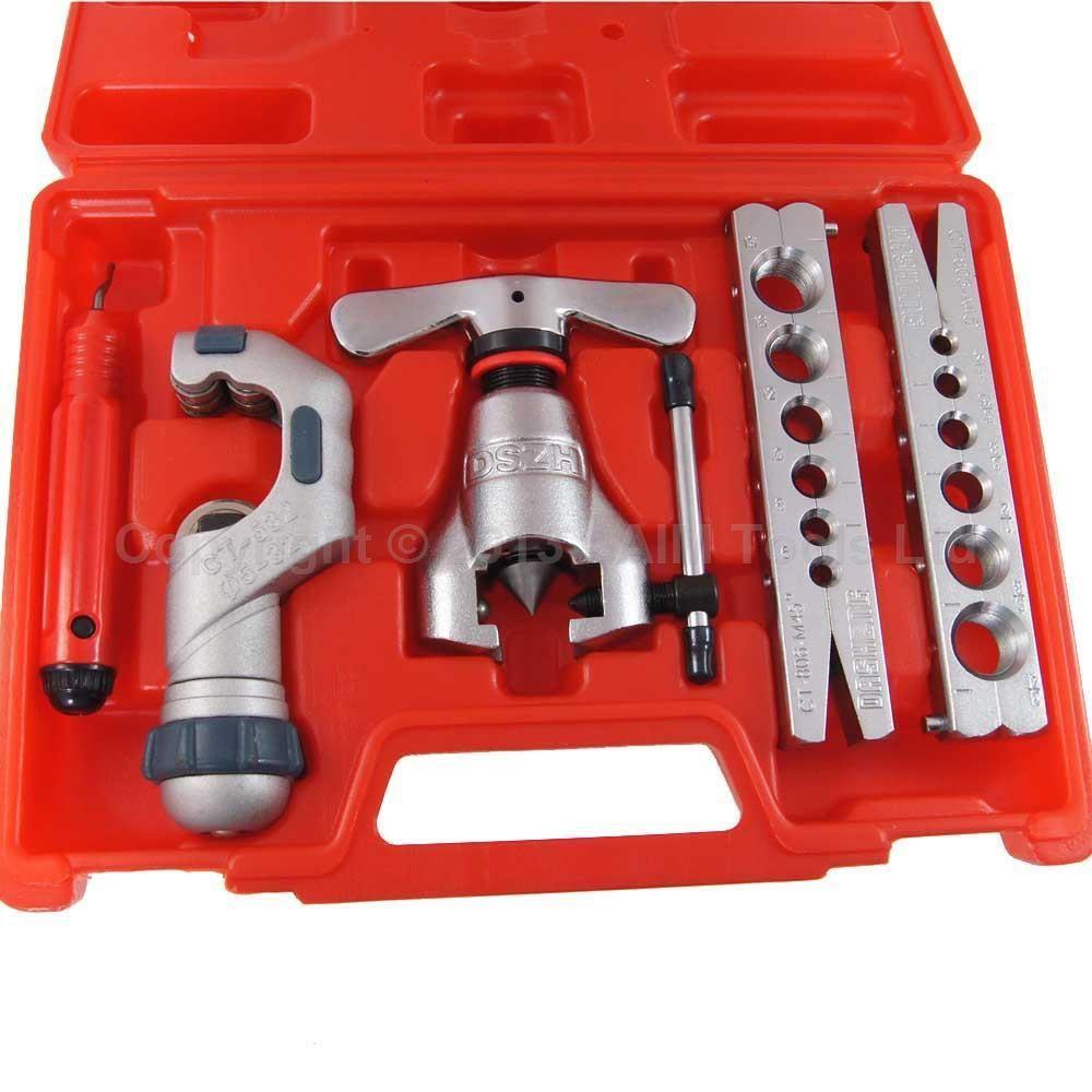 цена на Tubing Pipe Flaring Tools Cutter Set Kit 45 Degree Eccentric Cone Type