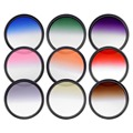 Neewer 52MM Complete Graduated Color Lens Filter Set 9pcs for Camera Lens with 52MM Filter Thread:Gray ND Filters + Filter Case