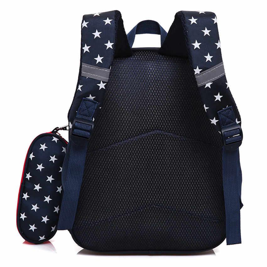 2018 рюкзак в полоску с сердечками для маленьких девочек с героями мультфильмов, рюкзак для переноски детей, комплект из 2 предметов, сумки для хранения для дома #0406