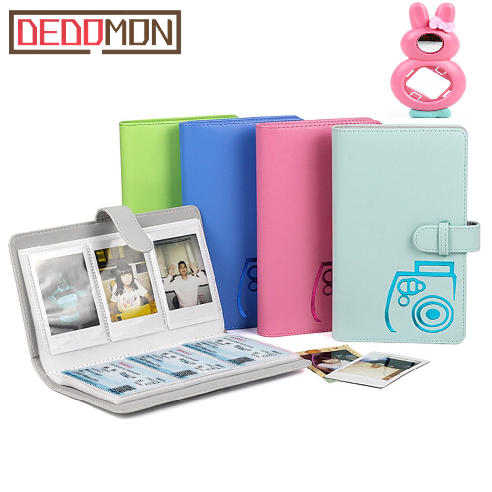Picture-Case Photo-Album Mini-Film Instax 96-Pockets PU for 7c/25/70/90-3inch