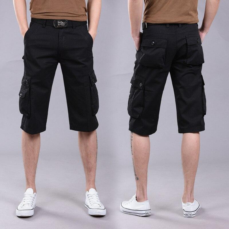2018 New Shorts Men Summer Hot Sale Work Short Pants Camouflage Military Brand Clothing Fashion Mens Cargo Shorts 28-38