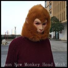 2016 Venta caliente del partido Cosplay mitología grandes orejas máscara  mono gorila trajes al oeste Rey Mono Sol wukong animal . 433839f828eb