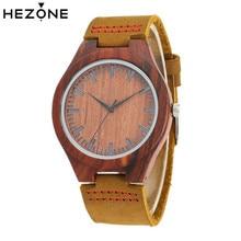 Фотография HEZONE Nature Red Sandalwood Watches Women